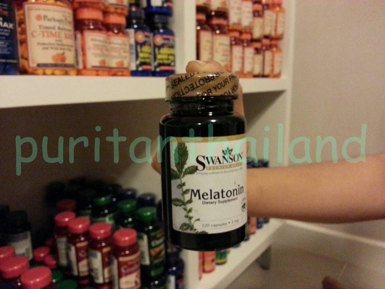 Swanson Melatonin 1mg. 120 capsules