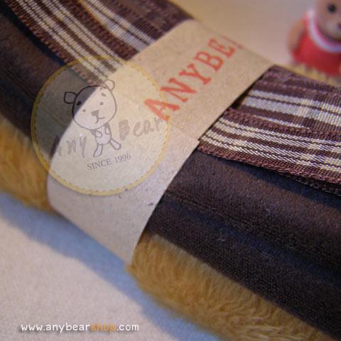 เซตผ้าขนKTสำหรับเย็บตุ๊กตาหมี - โทนสีน้ำตาลทอง