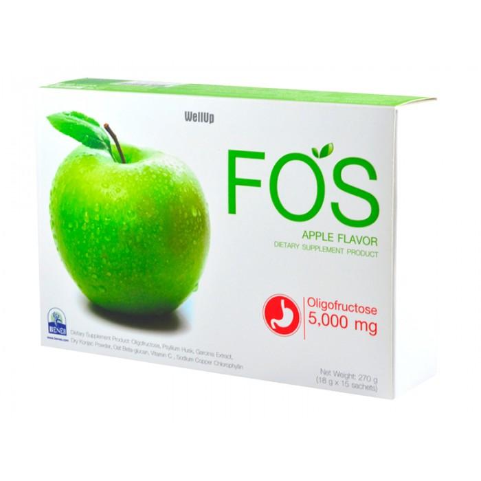 ดีท็อก ด้วย FOS Detox - อาหารเสริมดีท็อกซ์ ลดความอ้วน ฟอส กลิ่นแอปเปิ้ล # 15 ซอง สำเนา