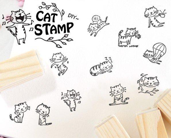 STAMP CAT SET