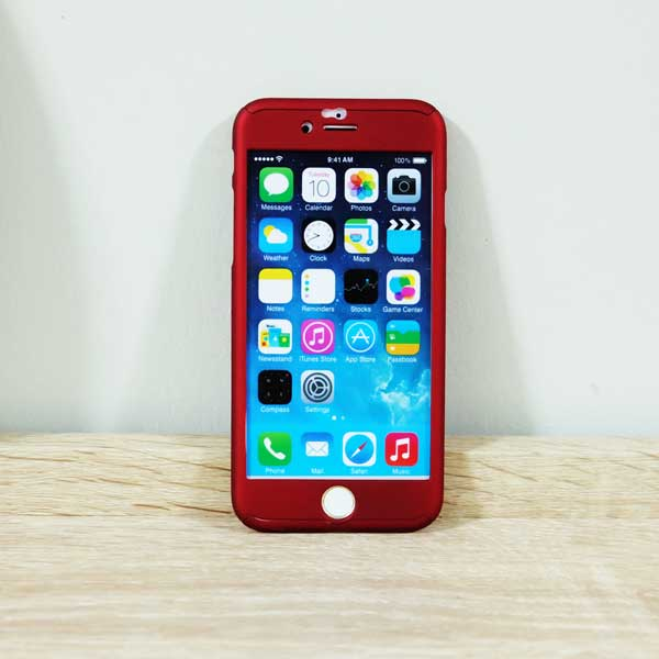เคสไอโฟน 6/6S ประกบ 360 องศา สีแดง