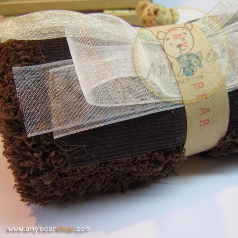เซตผ้าขนปุยสำหรับเย็บตุ๊กตาหมี - โทนสีน้ำตาลเข้ม