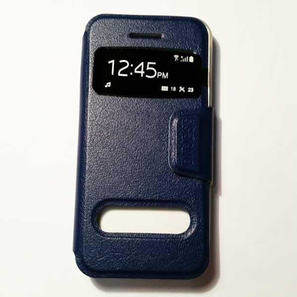 เคสไอโฟน 5/5S/SE ฝาพับรับสาย สีกรม