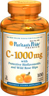 Puritan's Pride - Vitamin C 1000 mg with Bioflavonoids & Rose hips 100 Caplets