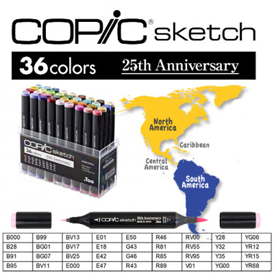 Limited Edition Copic Sketch 25Th Anniversary Set (Version USA)
