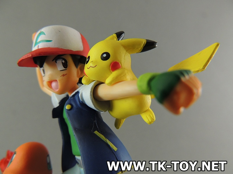 ล็อตใหม่เข้าแล้ว!!! โมเดลโปเกมอน ซาโตชิ Pikachu Hitokage (ฐานขาว) งานกล่อง