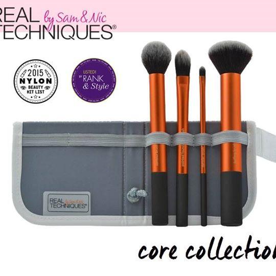 อุปกรณ์แปรงแต่งหน้า Real Techniques Core Collection Brush Set with 2-in-1 Case + Stand แปรง 4ชิ้นพร้อมกระเป๋าของแท้จากUSA (TOP Vote)