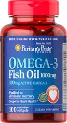 Puritan's Pride - Omega-3 Fish Oil 1000 mg 100 Softgels