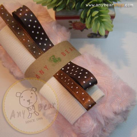 เซตผ้าขนกุหลาบสำหรับเย็บตุ๊กตาหมี - โทนสีชมพู
