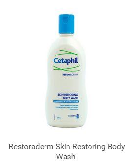 ครีมอาบน้ำสูตรผิวแพ้ง่าย Cetaphil RestoraDerm® Body Wash 295 ml (Eczema Calming Body Wash) สำเนา