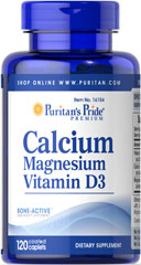 Puritan's Pride - Calcium Magnesium with Vitamin D3 120 Tablets
