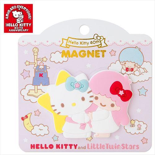 พร้อมส่งค่ะ Sanrio 40th Anniversary magnet - Kitty&Lala