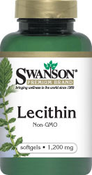 Swanson Vitamin - Lecithin Non-GMO 1200 mg 180 Softgels