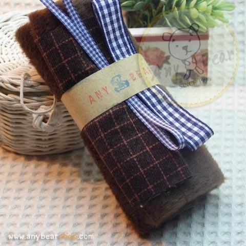 เซตผ้าขนKTสำหรับเย็บตุ๊กตาหมี - dark chocolate