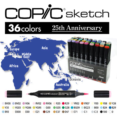 Limited Edition Copic Sketch 25Th Anniversary Set (Version Japan)