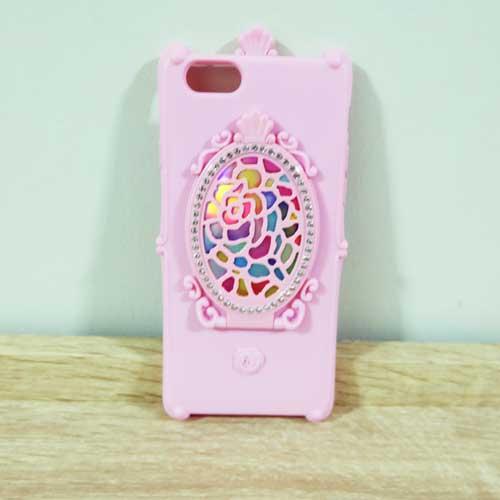 เคสไอโฟน 6/6s พลัส กระจกวิเศษ (สีชมพูอ่อน)