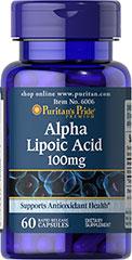Puritan's Pride - Alpha Lipoic Acid 100 mg 60 Capsules