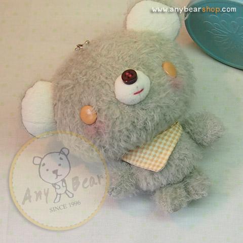 ตุ๊กตาหมีผ้าขนสีเทาขนาด 13 cm. - BunBun