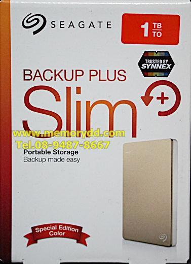 """Seagate Backup Plus Slim 1TB 2.5"""" (Gold) USB3.0 (STDR1000309)"""