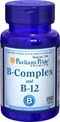 Puritan's Pride Vitamin B-Complex And Vitamin B-12 180 Tablets