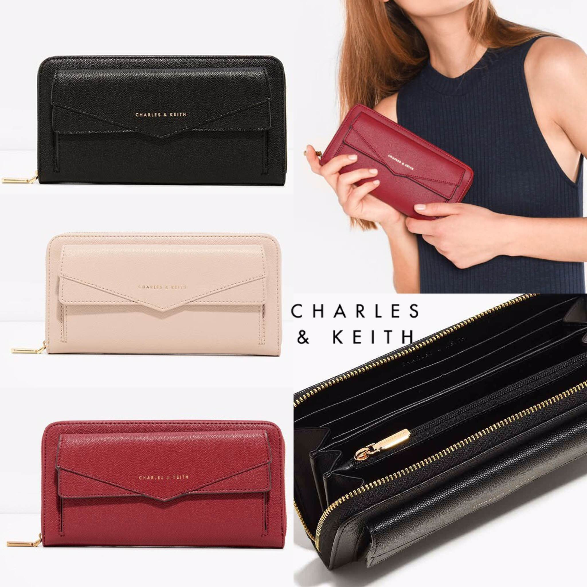 CHARLES & KEITH DUO-CLOSURE WALLET 2017