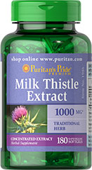 Puritan's Pride - Milk Thistle Extract 1000 mg 180 Softgels