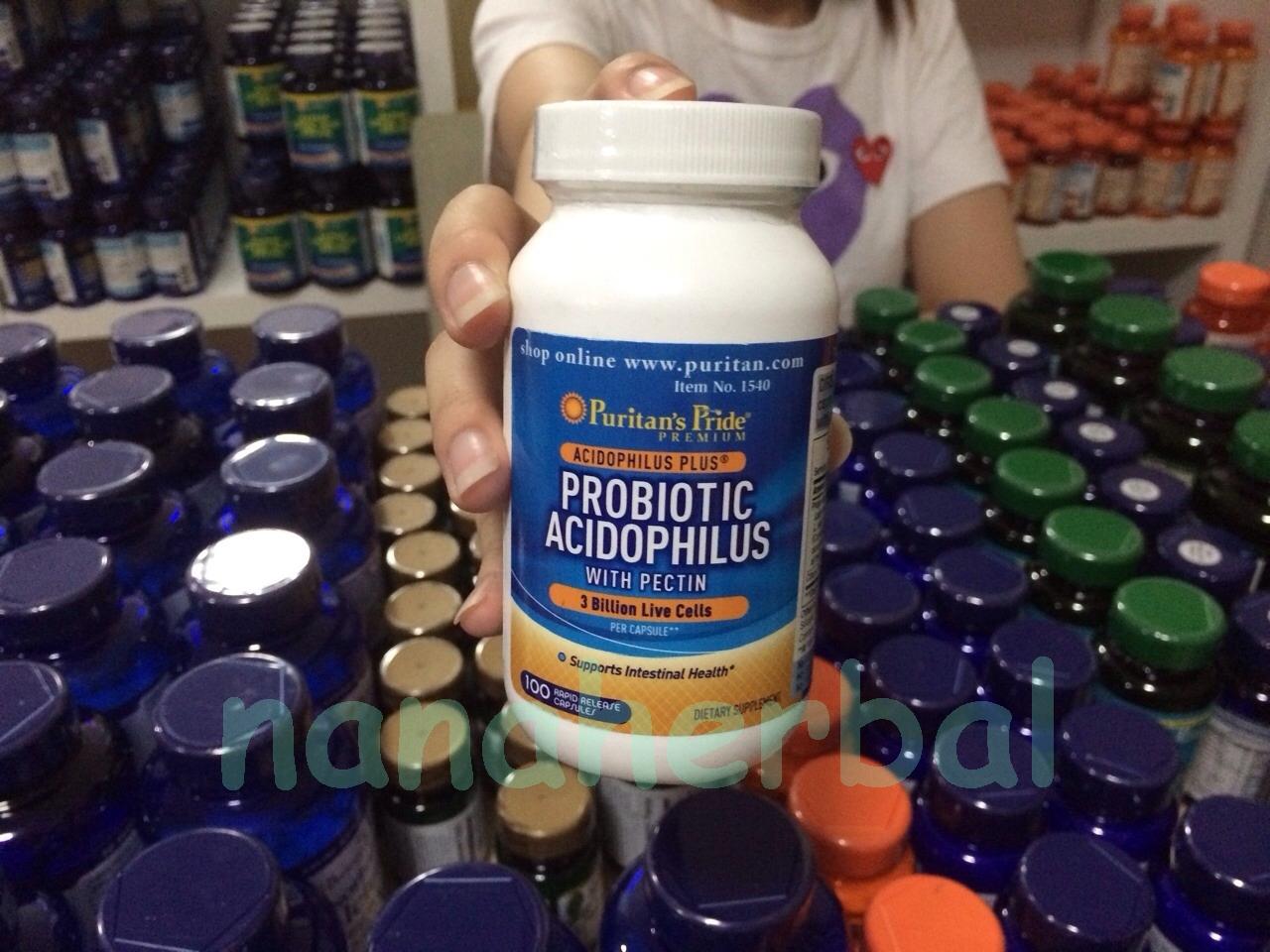 Probiotic Acidophilus with Pectin 3 billion / 100 Capsules ( Puritan 's Pride )