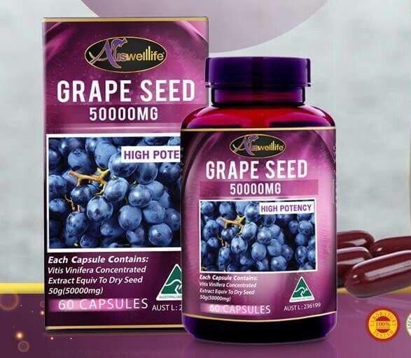 auswelllife grape seed 50000 mg เมล็ดองุ่น เกรพซีด