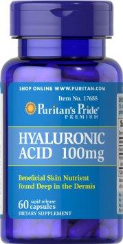 Puritan's Pride - Hyaluronic Acid 100 mg 60 Capsules