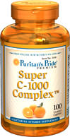 Puritan's Pride - Super Vitamin C 1000 mg 100 Tablets