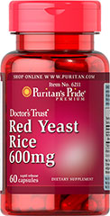 Puritan's Pride - Red Yeast Rice 600 mg 60 Capsules