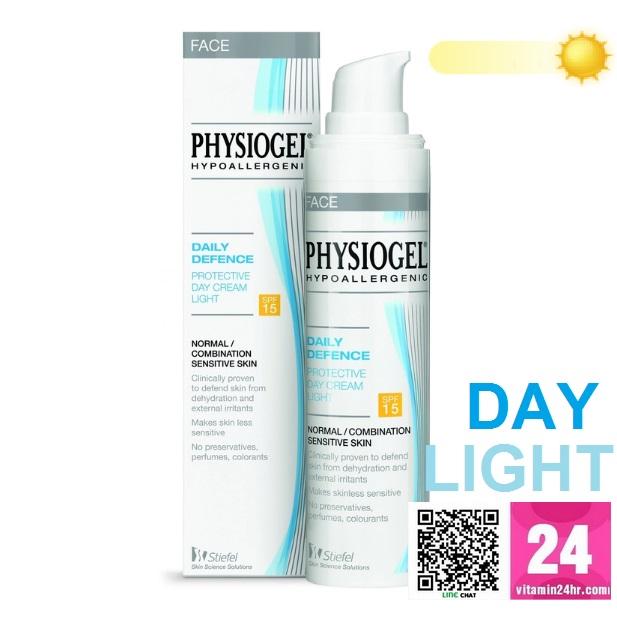 Physiogel Daily Defence Protective Day Cream Light SPF 15 ขนาด 40มล - เดลี่ ดีเฟนซ์ โพรเทคทีฟ เดย์ ครีม ไลท์ เอสพีเอฟ15 ช่วยปกป้องผิวจากมลภาวะ*ให้ผิวไม่บอบบางง่าย สำหรับผิวธรรมดาถึงผิวผสม ที่บอบบางแพ้ง่าย ราคาถูกพิเศษ หาซื้อได้แล้วที่นี่