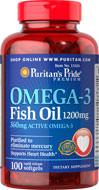Puritan's Pride - Omega-3 Fish Oil 1200 mg 100 Softgels