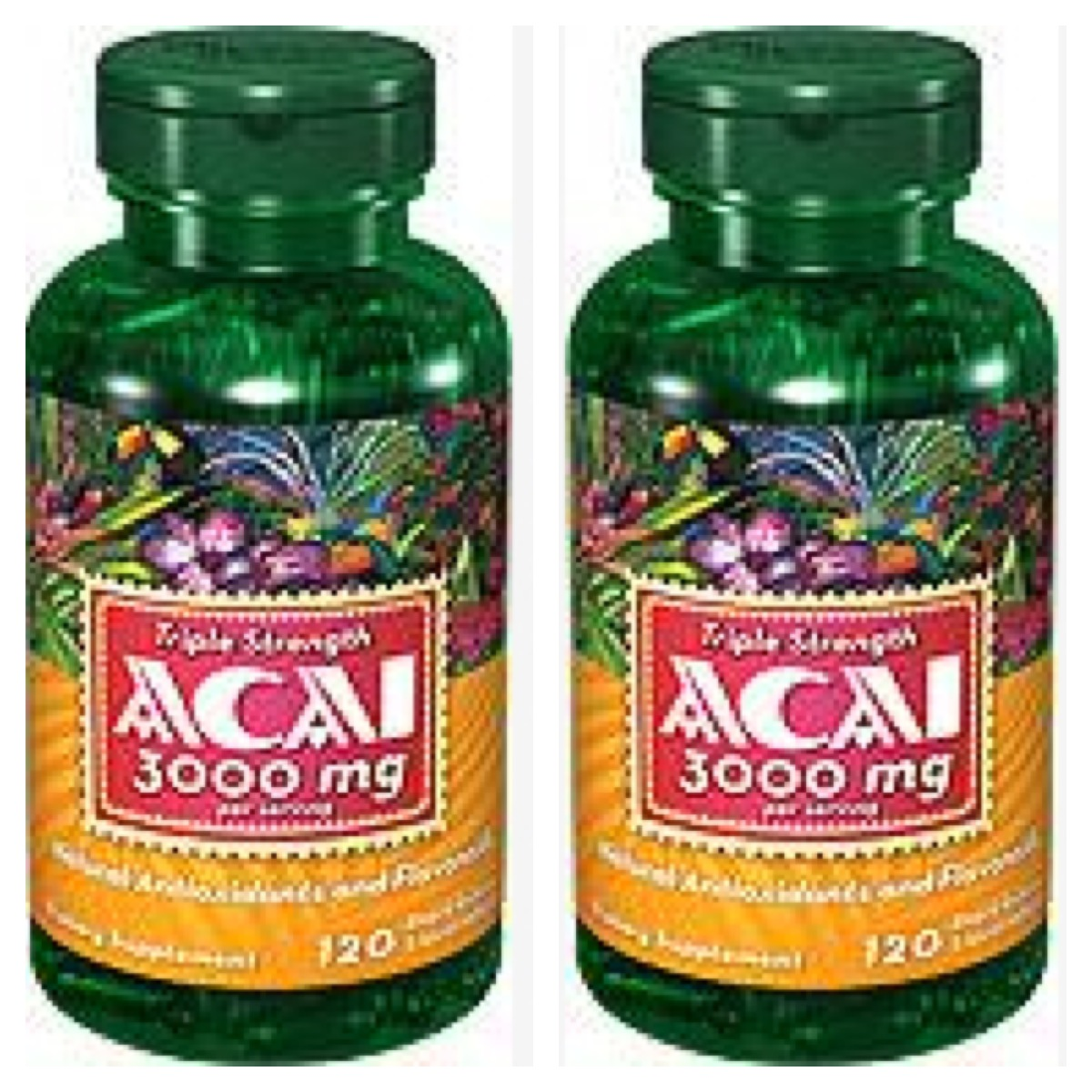 ACAI Berry 3000 mg 120 Softgels (2 Bottles)