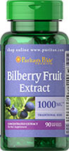 Puritan's Pride - Bilberry 1000 mg 90 softgels