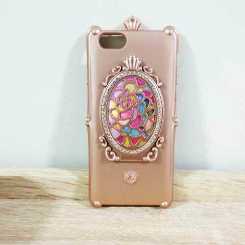 เคสกระจกวิเศษ ไอโฟน 6/6S สีโรสโกลด์