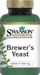 Swanson Vitamins - Brewer's Yeast 500 mg 500 Tablets
