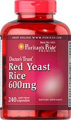 Puritan's Pride - Red Yeast Rice 600 mg 240 Capsules