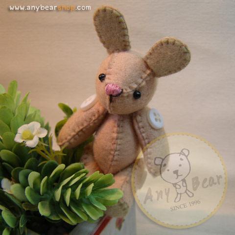 ตุ๊กตากระต่าย ขนาด 7.5 cm. BeanBunny Cutwork
