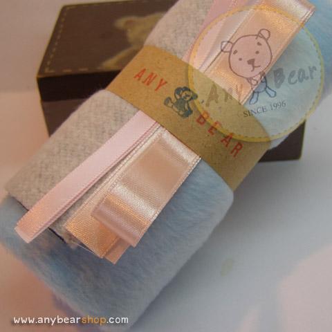 เซตผ้าขนแมวสำหรับเย็บตุ๊กตาหมี - โทนสีฟ้า
