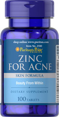 Puritan's Pride - Zinc for Acne 100 Tablets