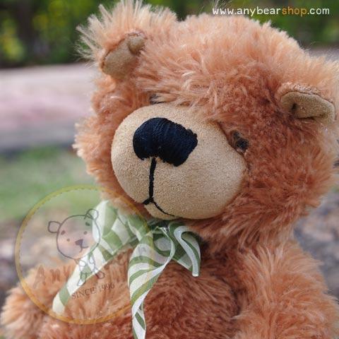หมีนุ่มนิ่มสีน้ำตาล สูง 27 ซม.