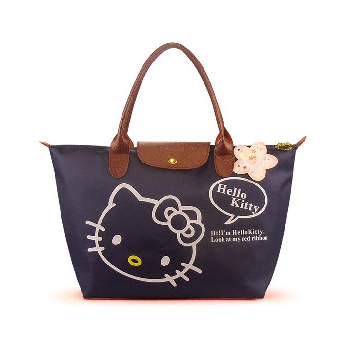[Preorder] กระเป๋าถือแฟชั่น Hello Kitty สีกรม Zhendian treasure waterproof bag swimming bag Hello Kitty cartoon fashion handbags shoulder bag shopping bag