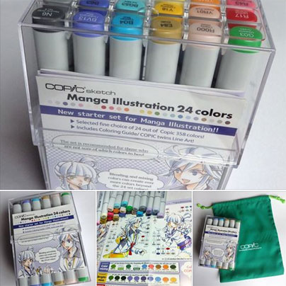 Sketch -Manga Illustration 24 Colors Set