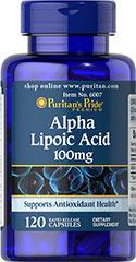 Puritan's Pride - Alpha Lipoic Acid 100 mg 120 Capsules