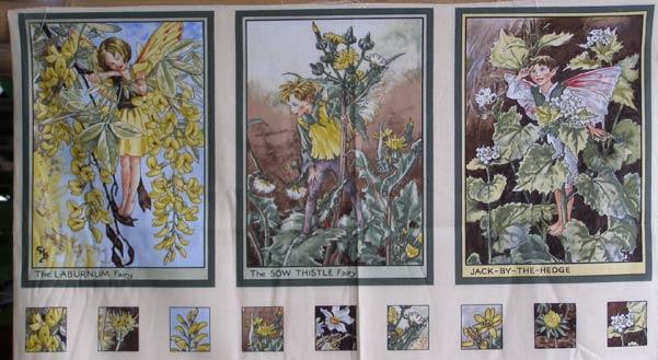Michael Miller Flower Fairies Sunshine Panel Sunny