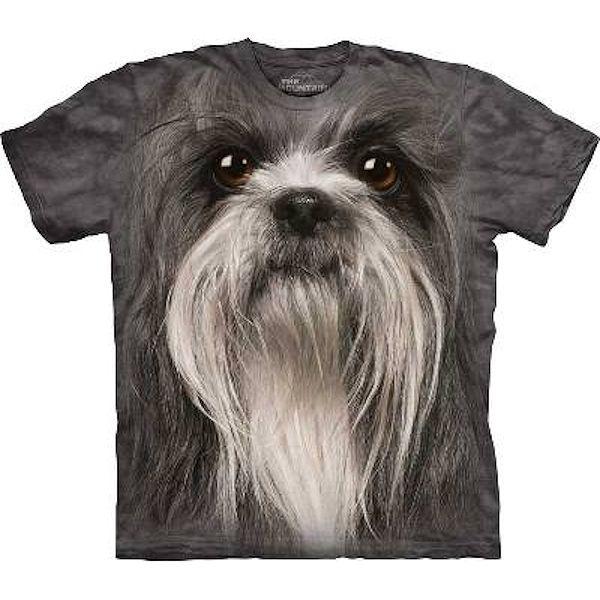 The Mountain Big Face Shih Tzu Dog T-Shirts