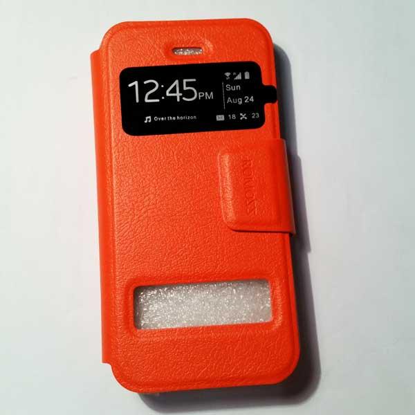 เคสไอโฟน 5/5S แบบฝาพับ สีส้ม