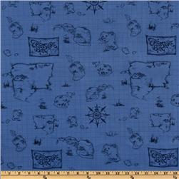 Treasure Bay Map Blue
