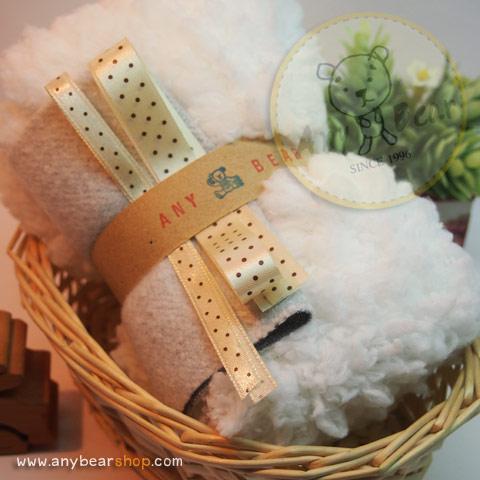 เซตผ้าขนฟูสำหรับเย็บตุ๊กตาหมี - โทนสีขาว